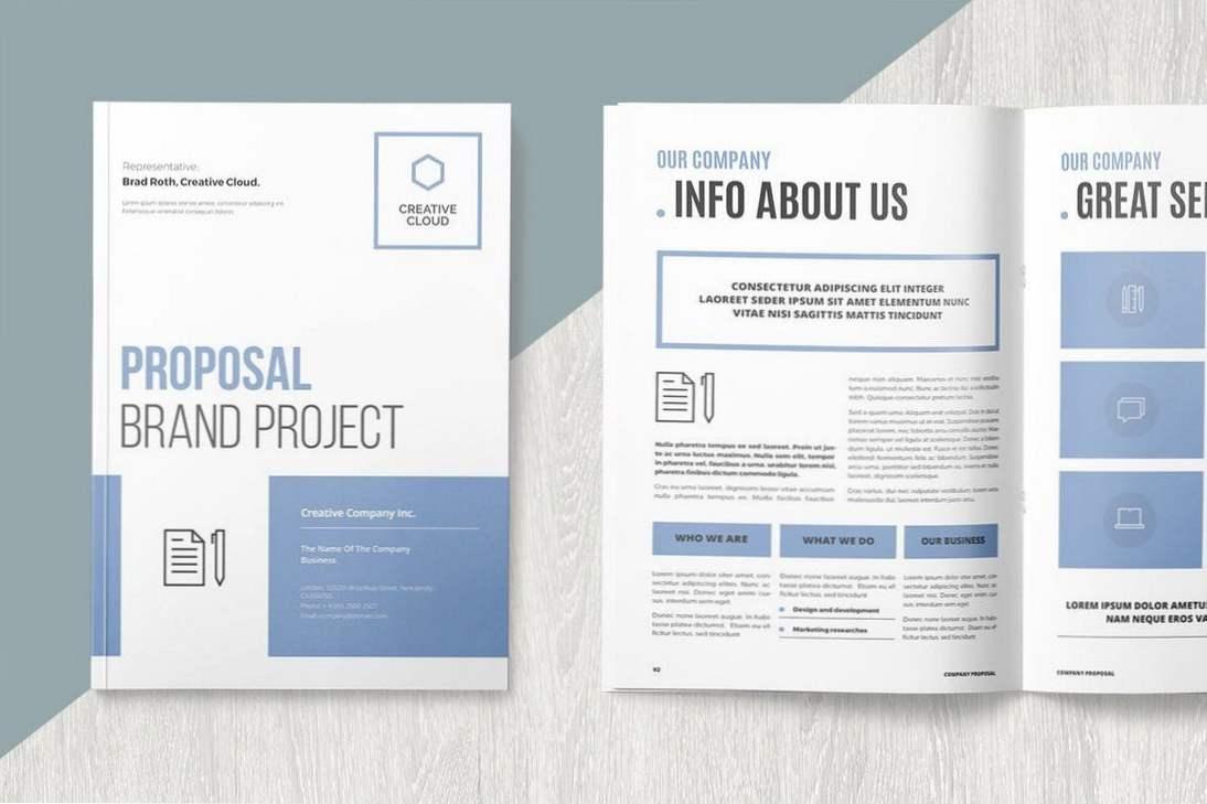 22+ Beste Microsoft Word-Broschürenvorlagen (Inspiration)  Tipps With Fact Sheet Template Microsoft Word